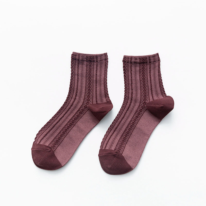 Women Autumn Adult Cotton Socks