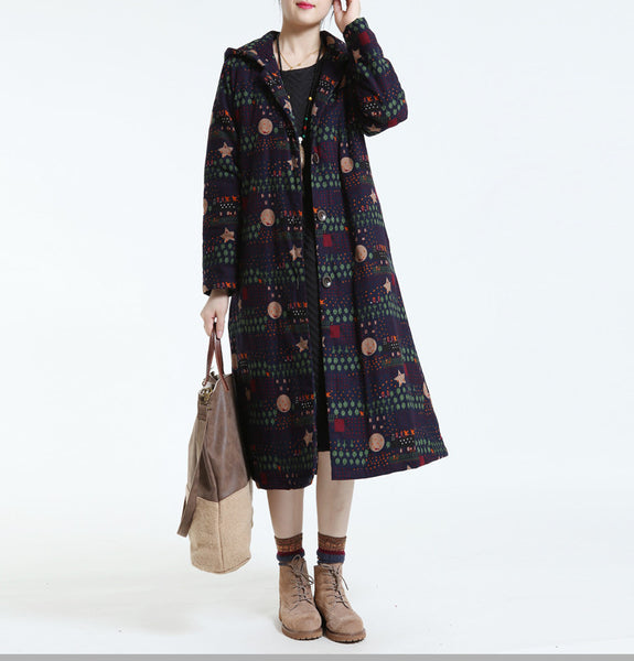 Women winter cotton casual loose coat