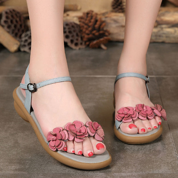Retro Casual Leather Summer Women Sandals