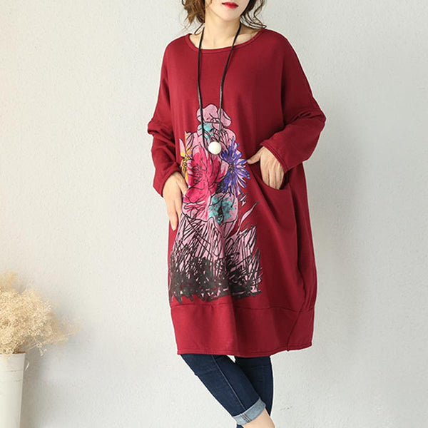 Thick Cotton Knit Loose Dress