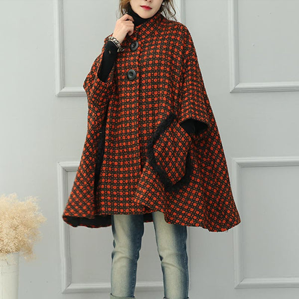 Orange Thick Wool Coat