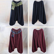 Ethnic Linen Spring Casual Cross-Pants