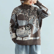 Abstract Pattern Casual Warm Sweater
