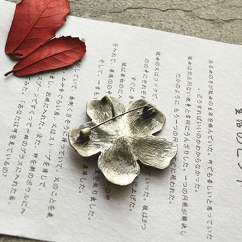 Alloy Flower Brooch Long Necklace