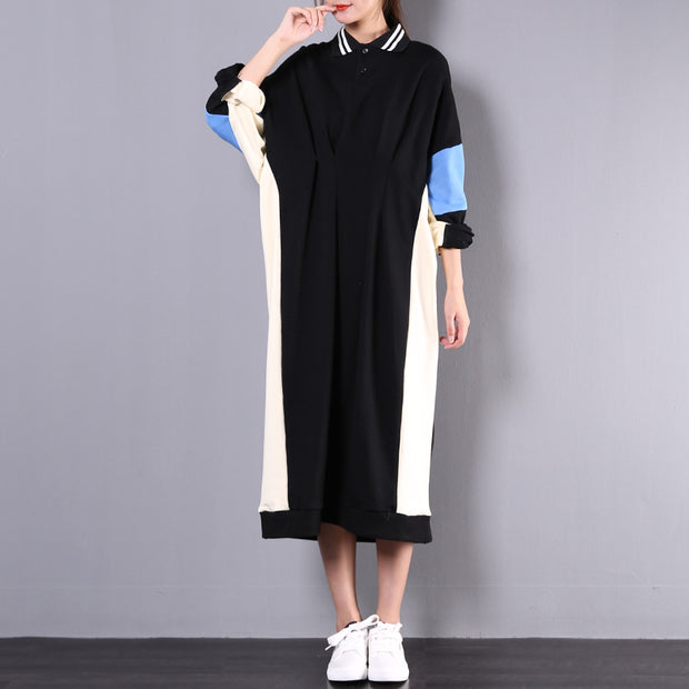 Assorted Colors Pleated Long Sleeve Dress