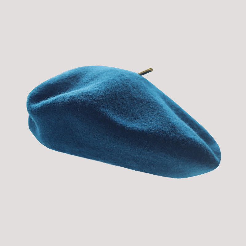 Autumn Fashion Pure Color Wild Wool Berets