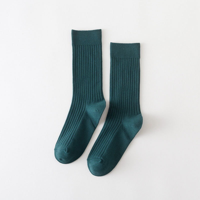 Autumn Solid Color Sport Socks(5 Pairs)