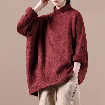 Autumn Warm High Neckline Sweater Jumper