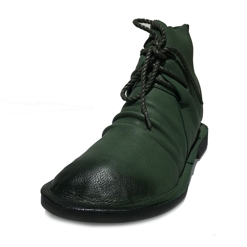 Autumn Women Casual Lacing Leather Shoes