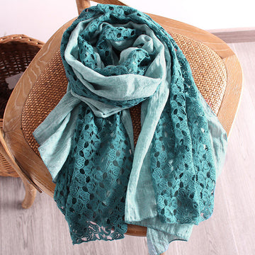 Autumn Women Hollow Stitching Scarf