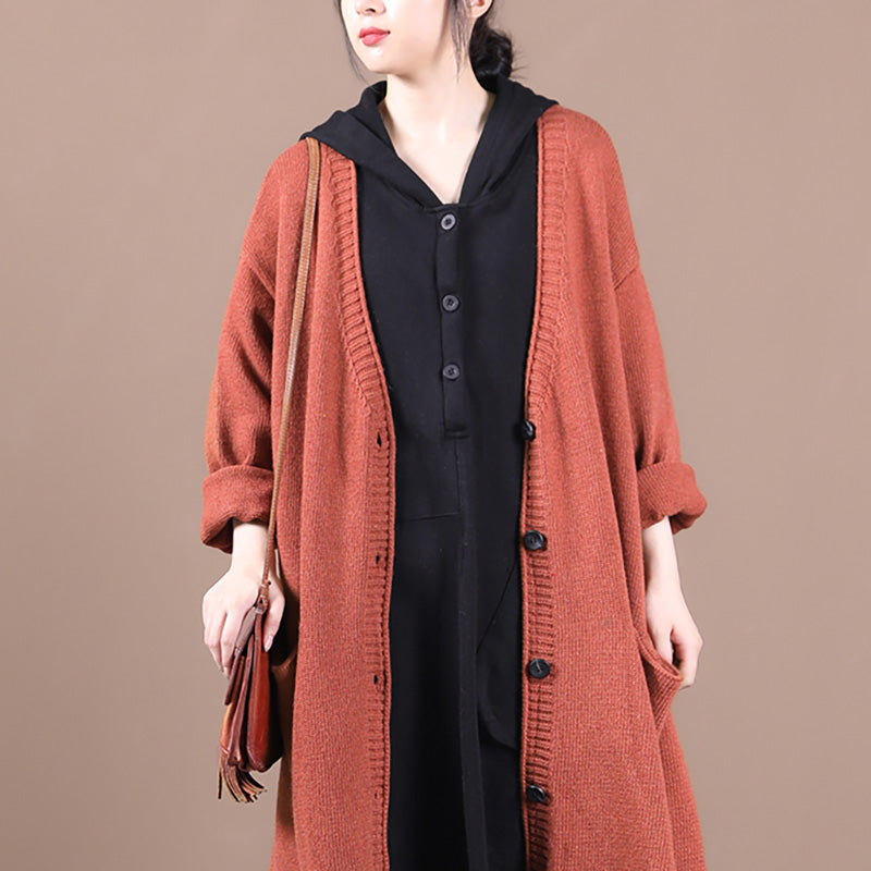 Autumn Women Pure Color Knitted Cardigan