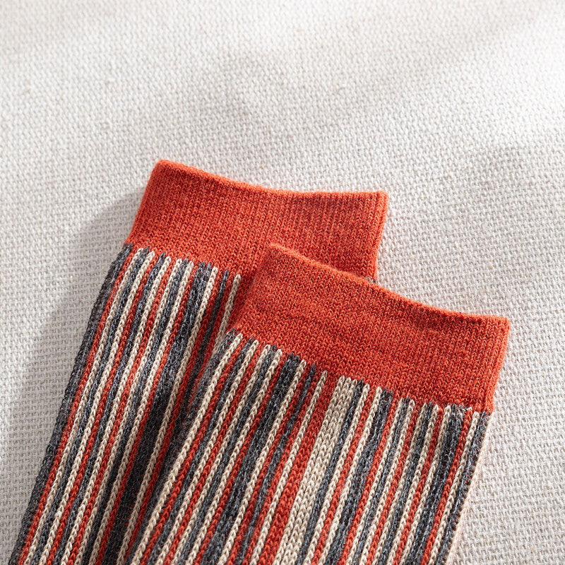 Autumn Women Striped Wild Socks(3 Pairs)