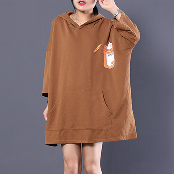 Autumn New Loose Cats Women Cute Hoodie