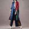 Autumn New Women Loose Colorful Linen Suit
