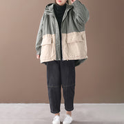 Autumn Winter Casual Colour Block Warm Coat