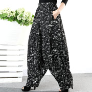 Autumn Winter Jacquard Loose Casual Harem Pants