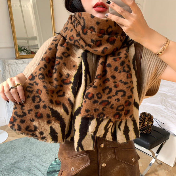 Autumn Winter Leopard Soft Comfortable Scarf