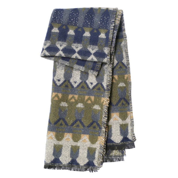 Autumn and Winter Thickening Large Warm Scarf