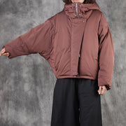 Bat Sleeve Casual Warm Down Jacket
