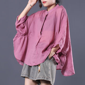 Batwing Sleeve Comfortable Solid Color T-Shirt