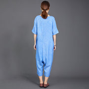 Bright Solid Color Casual Loose Comfortable Jumpsuit