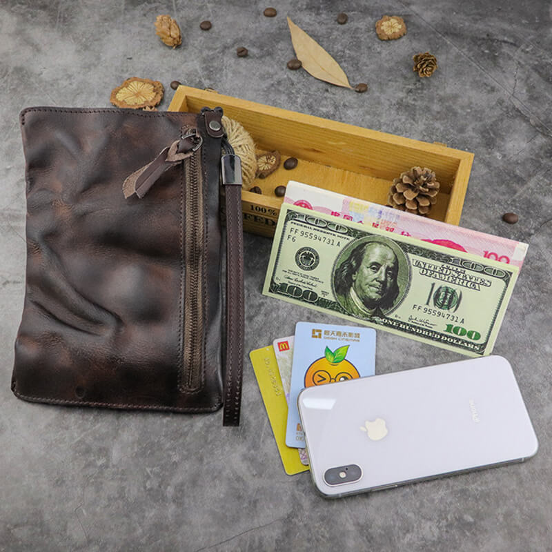 Business Retro Large Capacity Bank Card Bag