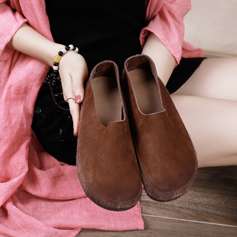Buykud - Spring Autumn Leather Loafers