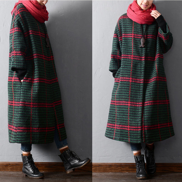 Female winter warm long coat - Buykud
