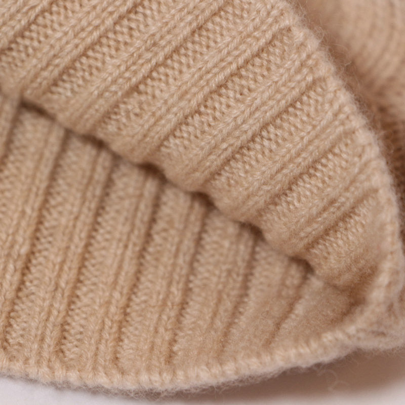 Cashmere Solid Color Knitted Thick Hat