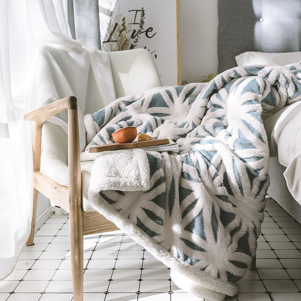 Cashmere Thick Winter Jacquard Warm Blanket