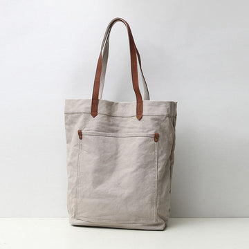 Casual Canvas Pocket Shoulder Bag