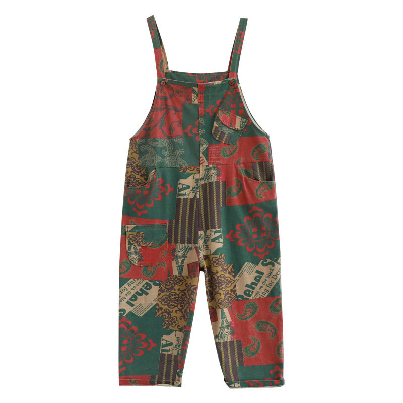 Casual Prints Cotton Adjustable Jumpsuit