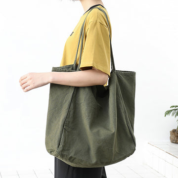 Casual Retro Large Capacity Canvas Shoulder Bag