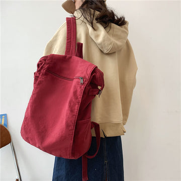 Casual Retro Work School Canvas Backpack