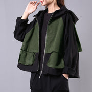 Buykud Casual And Comfortable Stitching Hooded Jacket