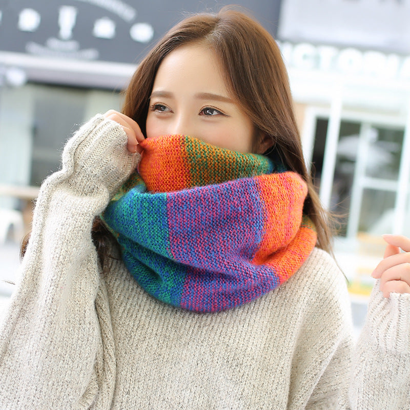Casual Comfort Knitted Colorful Scarf
