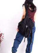 Casual Drawstring Canvas Travel Soft Backpack