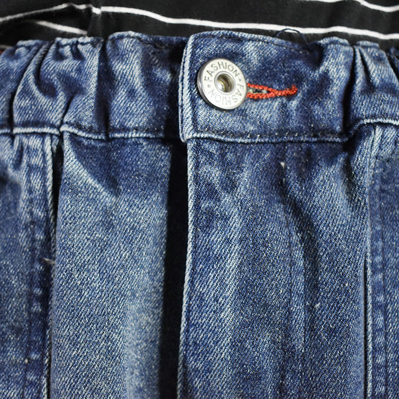 Casual Frayed Blue Jeans For Women