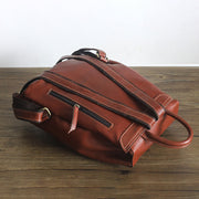 Casual Handmade Women Leather Backpack