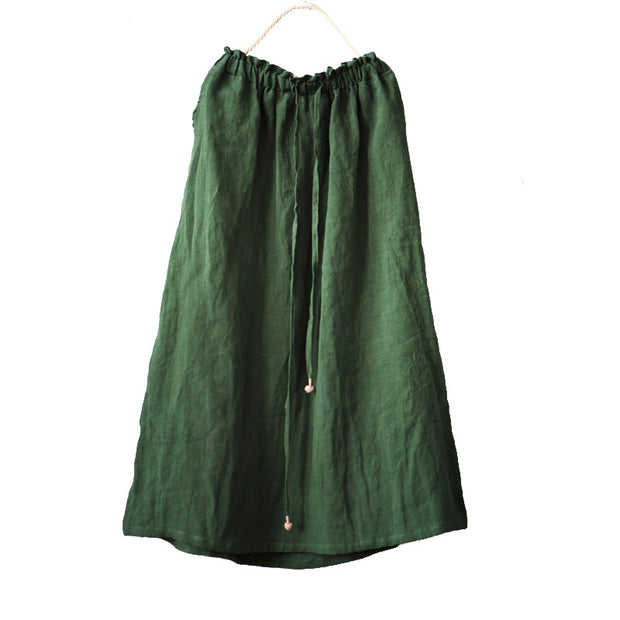 Casual Lacing Travel Solid Color Skirt