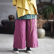 Casual Patchwork Loose Contrast Color Wide Leg Pants
