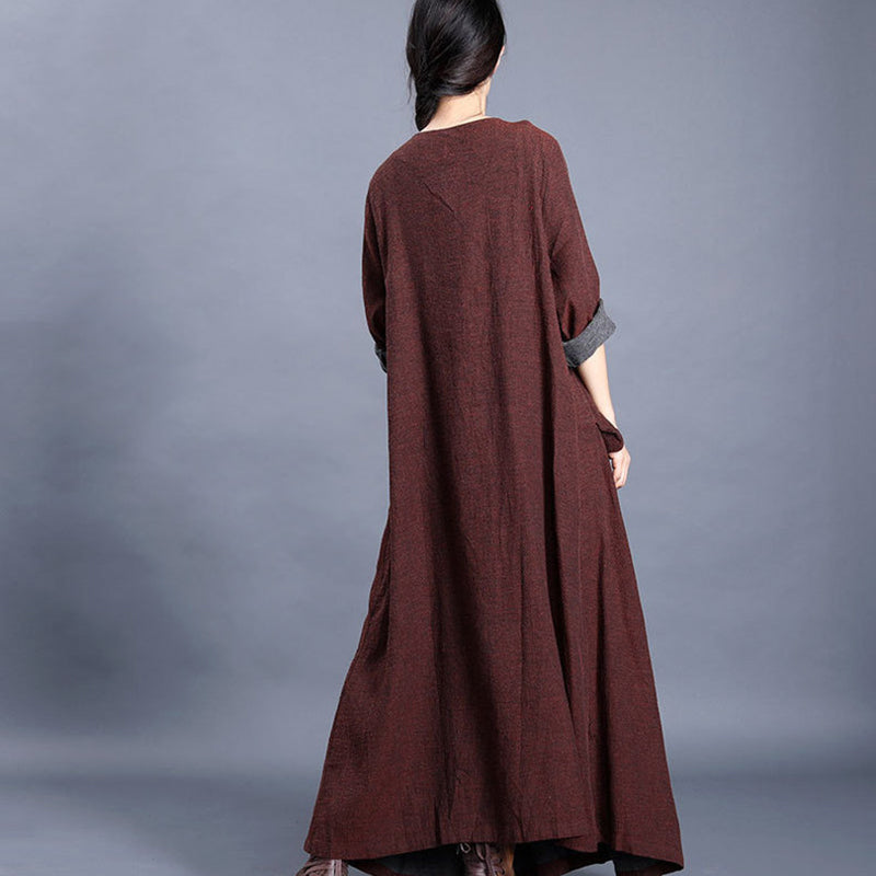 Casual Pleated Loose A-line Dress