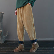 Casual Pure Color Corduroy Harem Pants