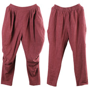 Casual Pure Color Drop-crotch Pants