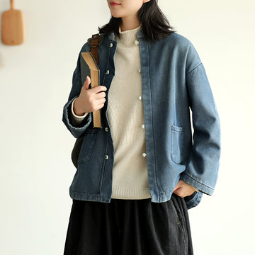 Casual Pure Color Plus Velvet Shirt Coat