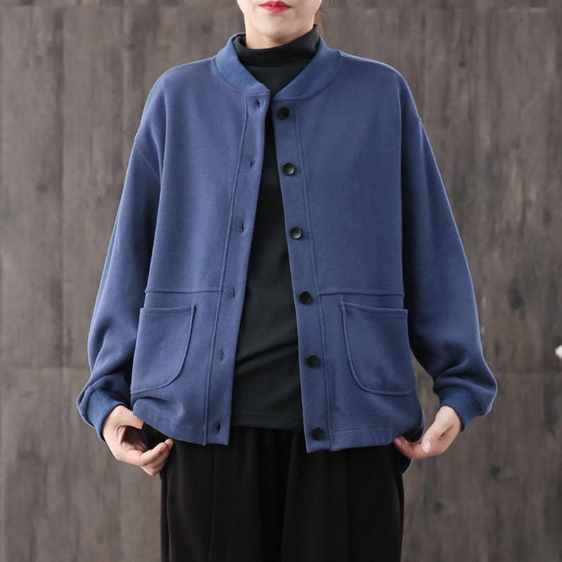 Casual Pure Color Soft And Comfortable Coat