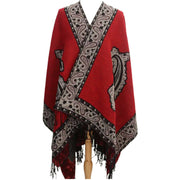 Casual Retro Jacquard Fringe Thick Warm Scarf