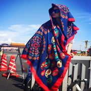 Casual Retro Sunscreen Burr Print Scarf