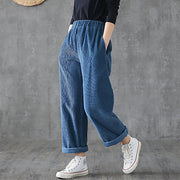 Casual Solid Color Corduroy Straight Pants