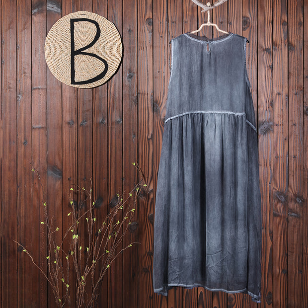 Casual Solid Summer Sleeveless Women Maxi Dress